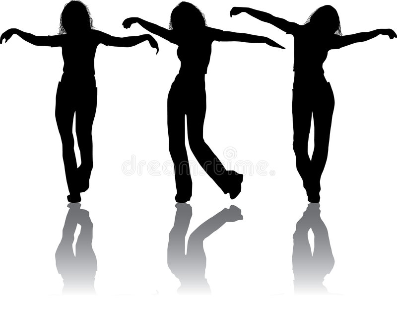Download Vector Silhouettes Young Girl Stock Vector - Image: 1240187