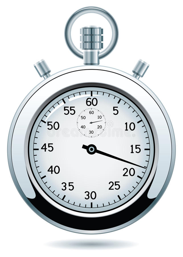 vector silver stopwatch vector illustration