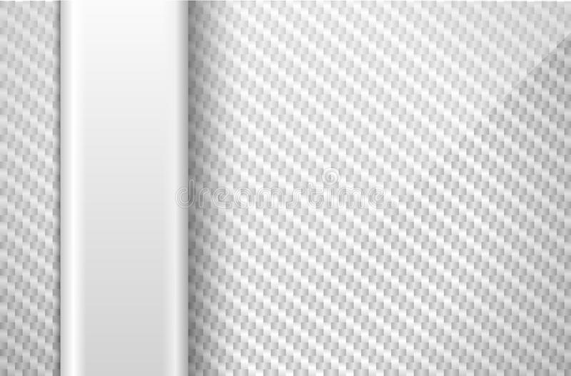 vector silver white carbon fiber background with light