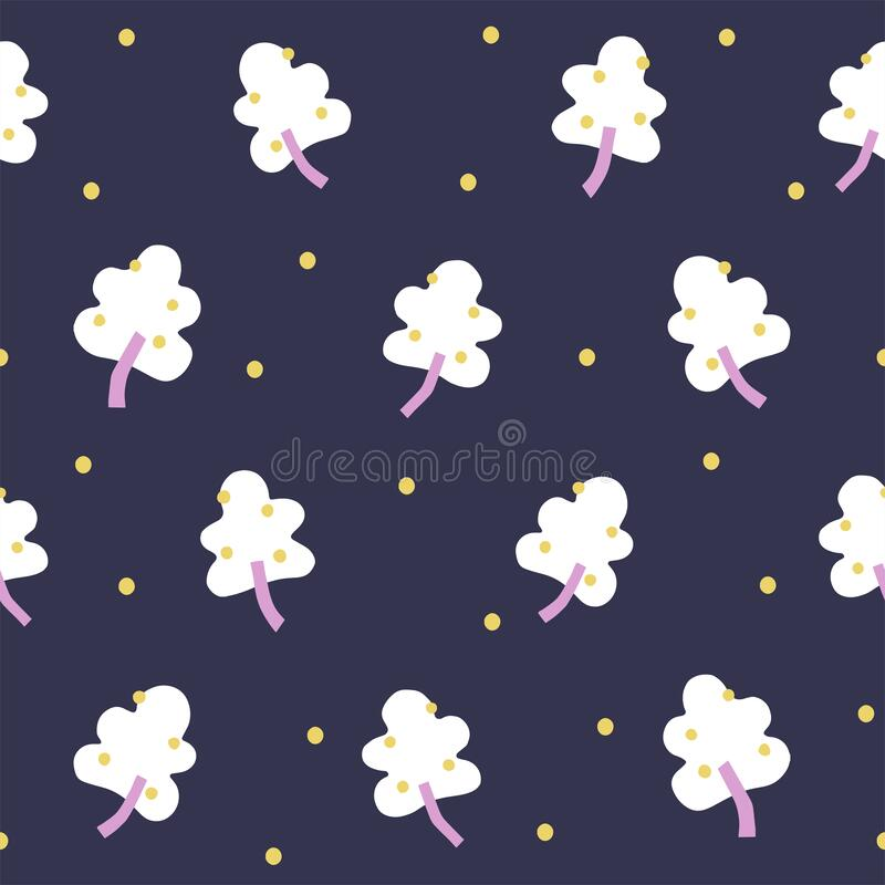 Free Vector Simple And Cute Yellow Berry Tree With Snow Motif Illustration Seamless Repeat Pattern Royalty Free Stock Photo - 218634135