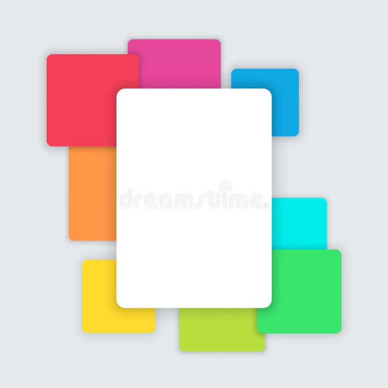 Vector Simple Background Text Box Page Template D Stock Vector ...