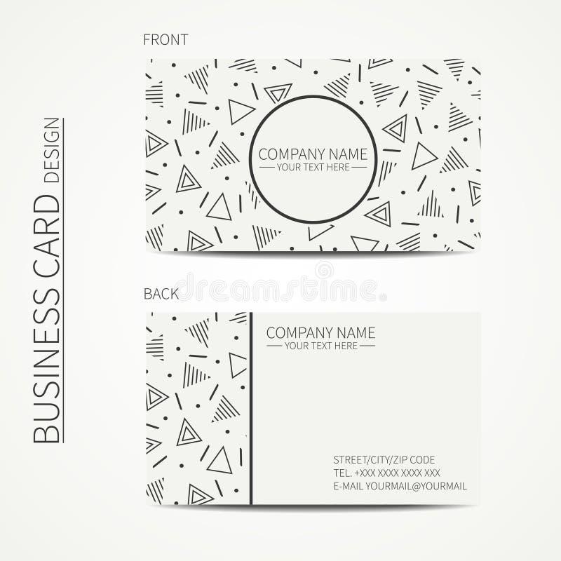 Vector Simple Business Card Design. Delta, Trigon. Template. Memphis ...