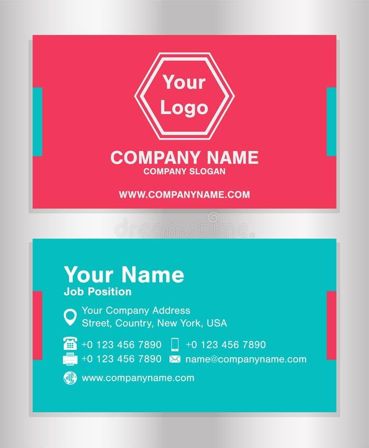 Vector simple de la plantilla de la tarjeta de presentación del negocio stock de ilustración