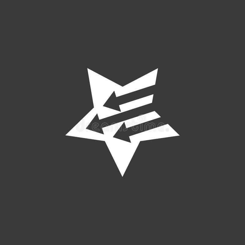 Vector simple del logotipo de la estrella de la flecha geom?trica del movimiento libre illustration