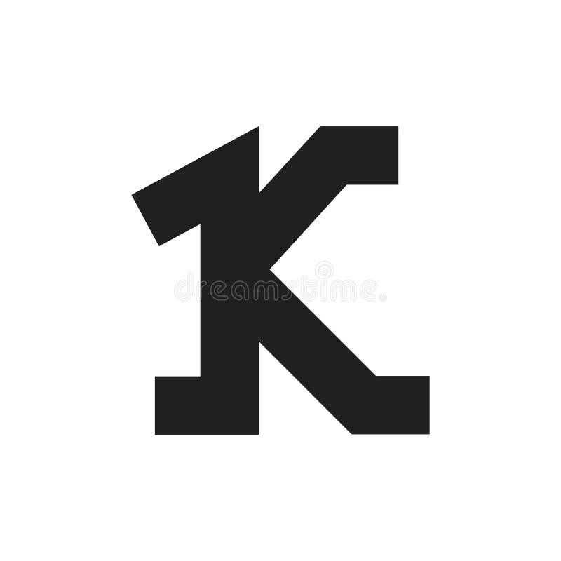 Vector simple del símbolo del número 1k libre illustration