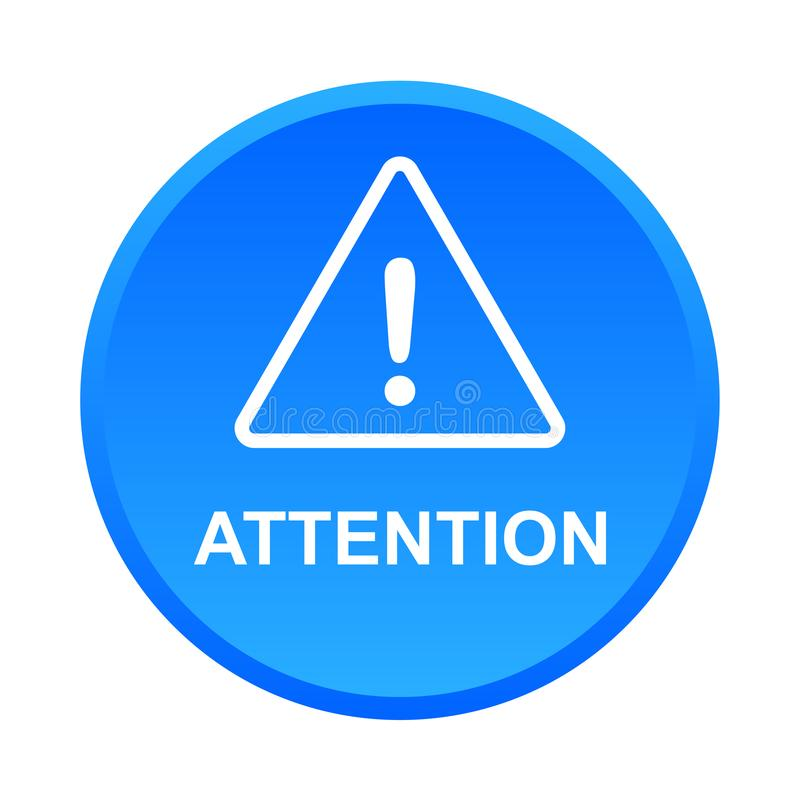 Attention caution warning button stock photos