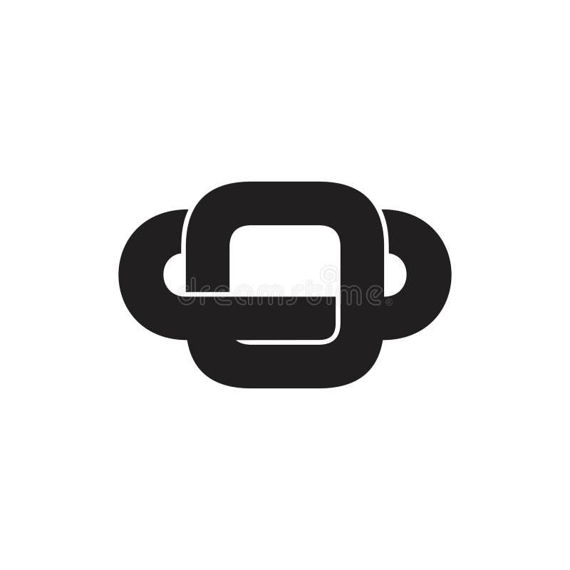 Vector simple ligado del logotipo del anillo libre illustration
