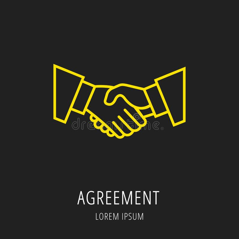 Vector Simple Logo Template Agreement stock illustration