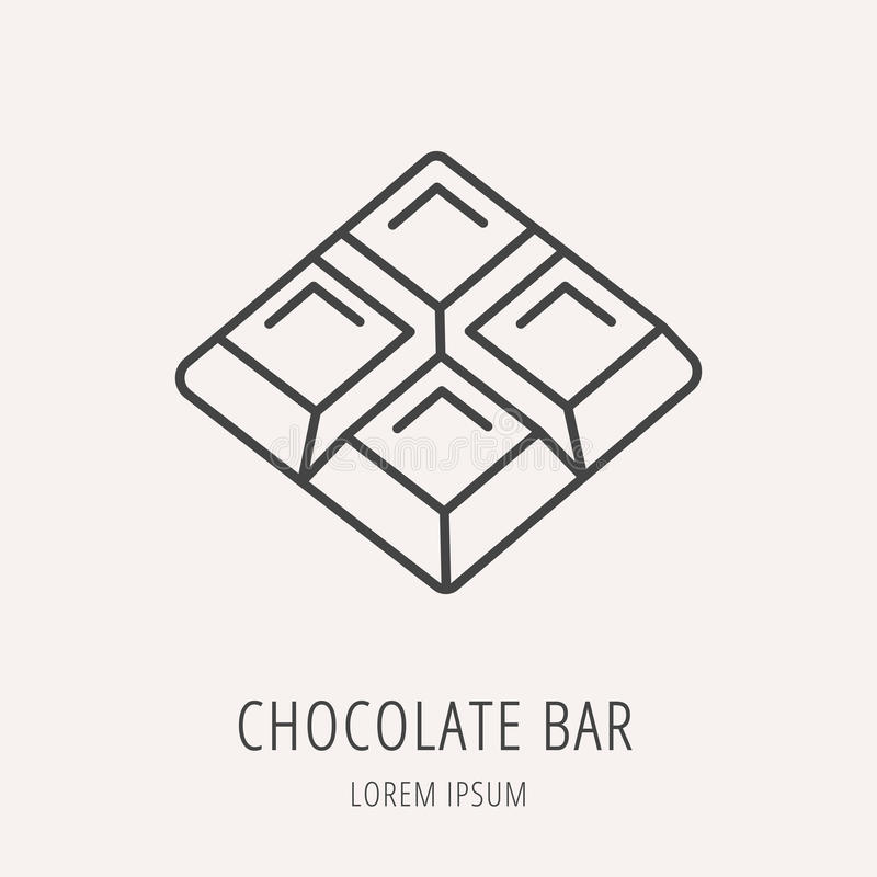 Vector Simple Logo Template Chocolate Bar Stock Illustration ...