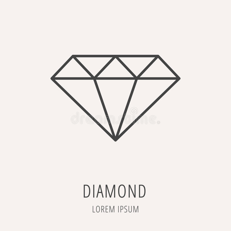 brilliant isolated vector photo stock logo line symbol design icon minimal diamond je