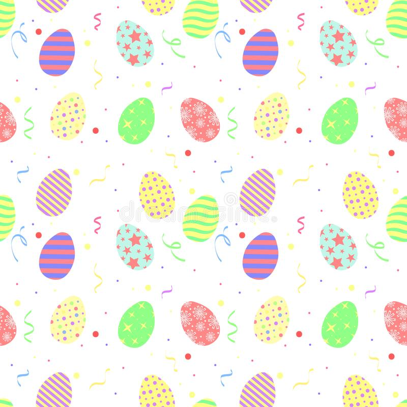 Vector simple pattern of Easter eggs. vector illustration