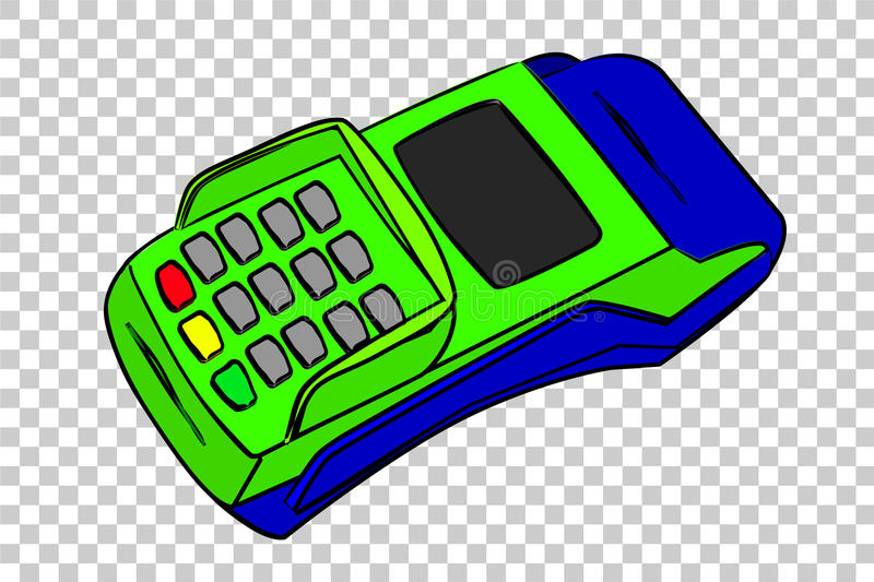 Simple Picture - EDC Machine, at transparent effect background royalty free illustration