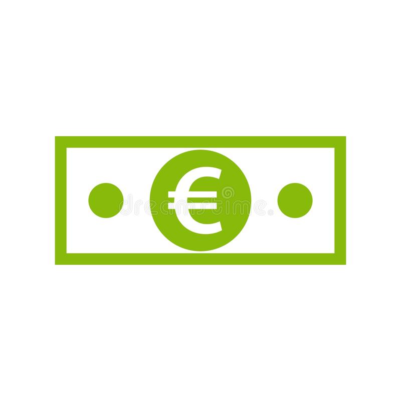 Banknote With Euro Sign Stock Vector Illustration Of Earning