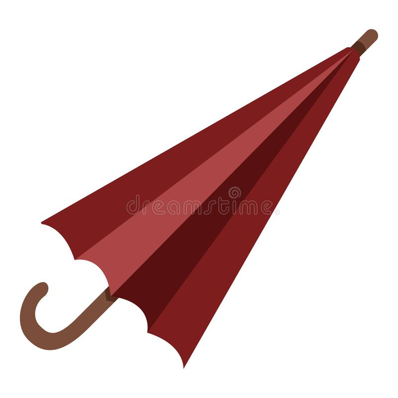 Vector Single Color Flat Icon - Umbrella vector illustration