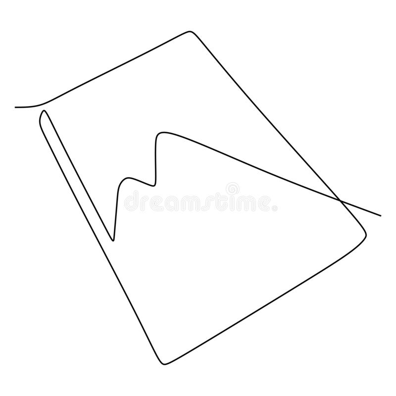 Vector single line drawing of book. Educational Idea concept minimalist design. Back to school theme stock illustration