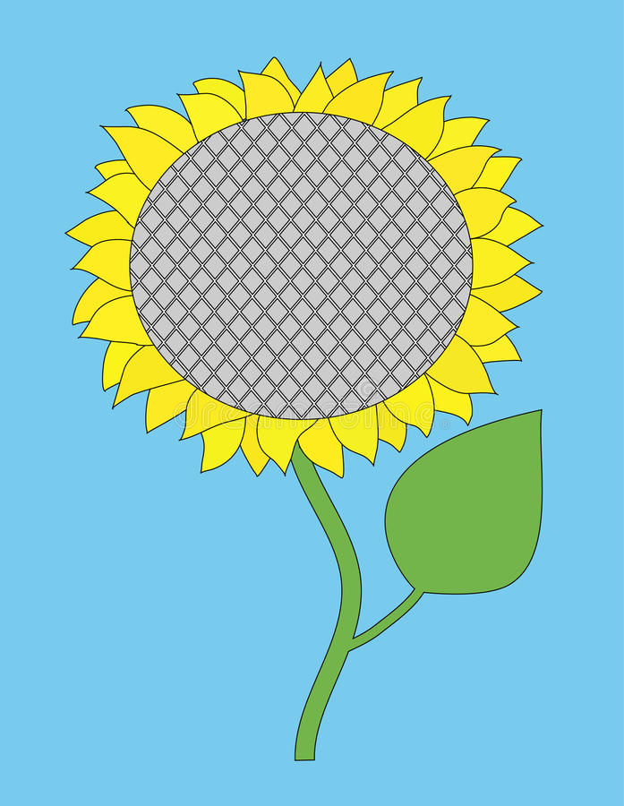 Download Vector single sunflower stock vector. Illustration of cheerful - 15590830