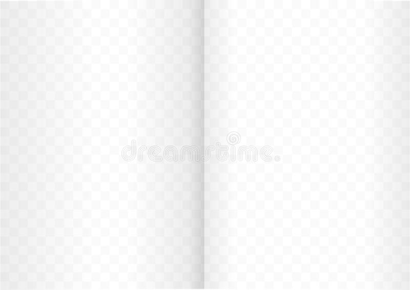 A4 size proportional size Blank Template opened book or magazine stock illustration