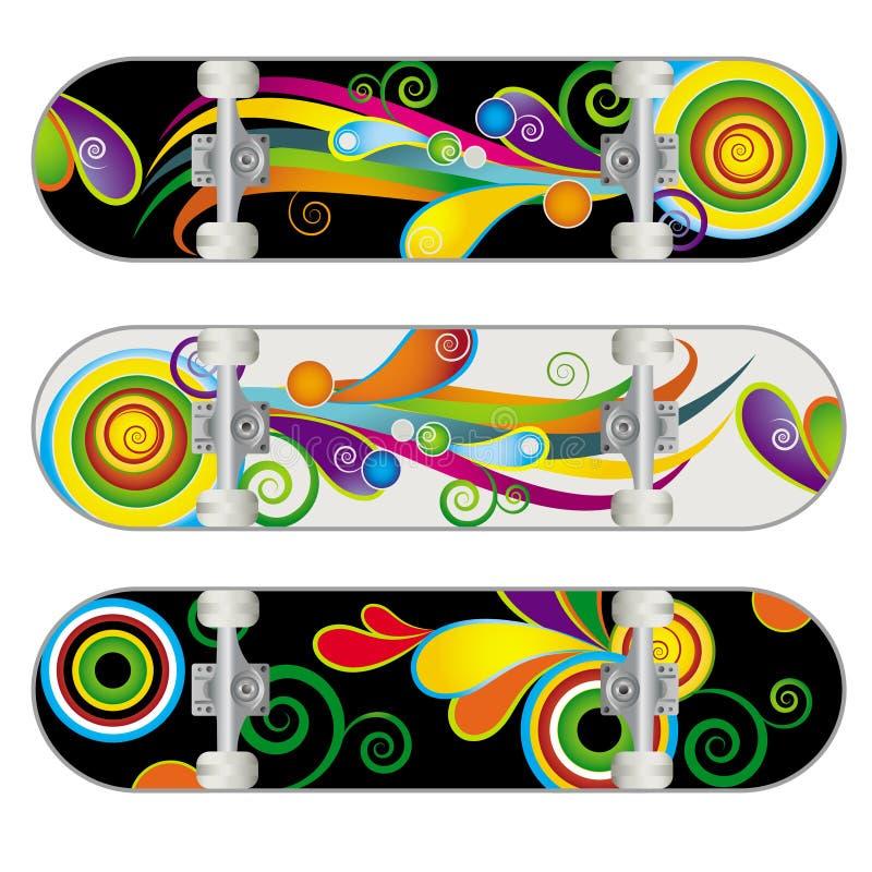 Download Vector Skateboard Designs stock vector. Image of stunts - 10795434