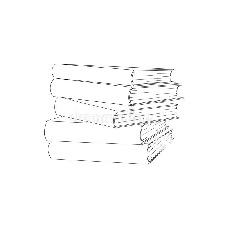 Vector Sketch book pile, stack vector illustration