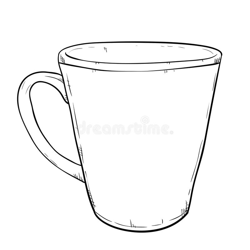 Vector sketch of cup stock vector. Illustration of chine - 49458587