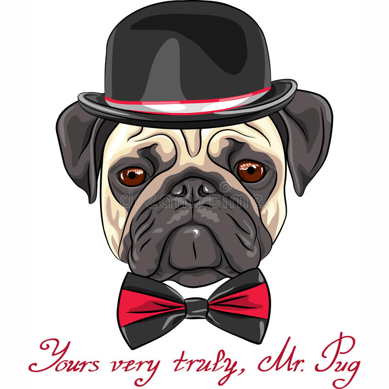 Fantastic Pug Bow Adorable Dog - vector-sketch-cute-dog-pug-breed-color-serious-fawn-35338763  Pic_422924  .jpg