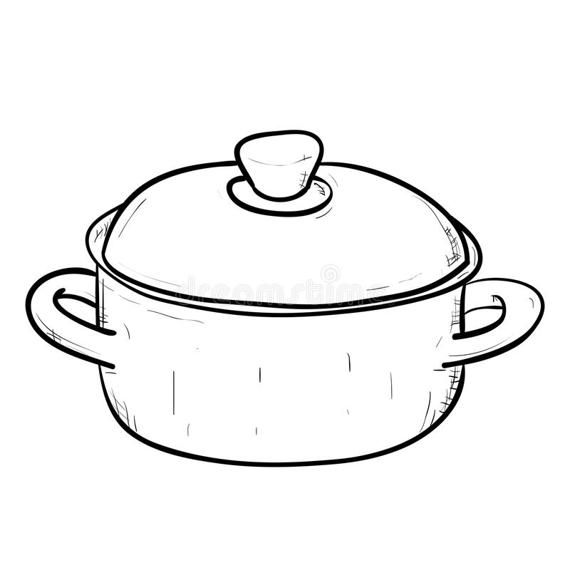 vector sketch of doodle pan stock vector illustration of