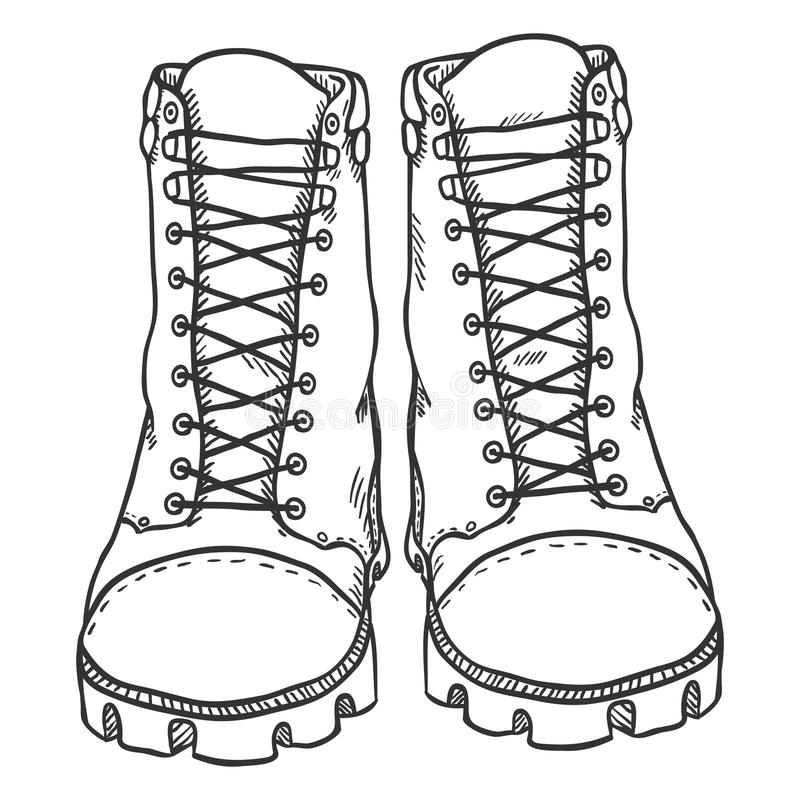 how to draw boots front view - photo #12