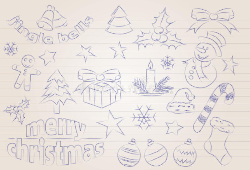 Download Vector Sketched Christmas Icons Stock Vector - Image: 27289195