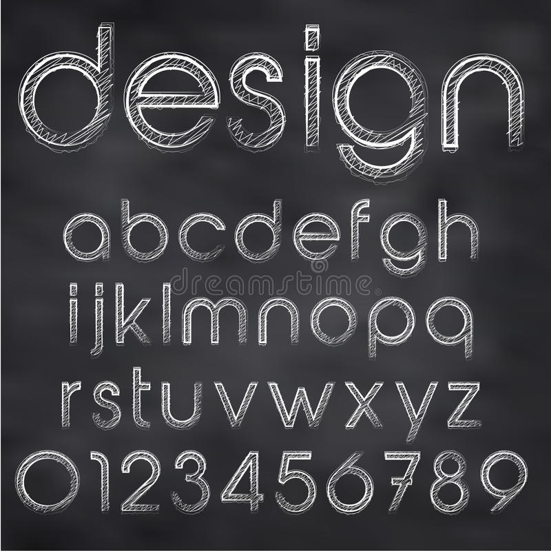 Vector sketched font vector illustration