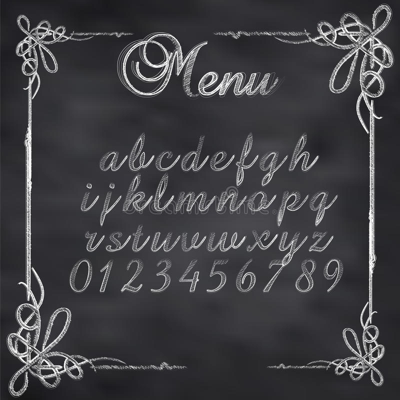 Vector sketched menu board vector illustration