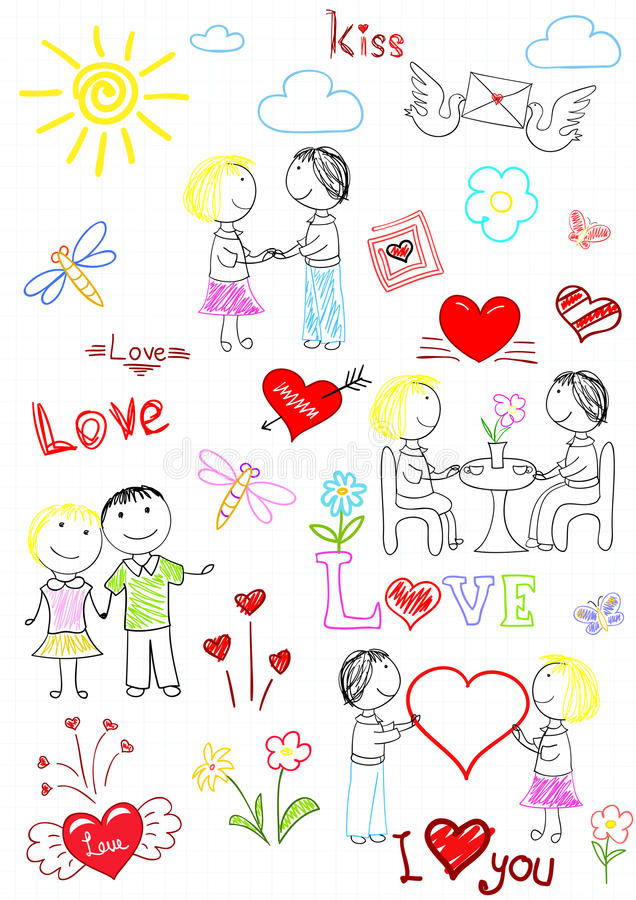 Download Vector Sketchs - Romantic Couple Stock Images - Image: 32531604