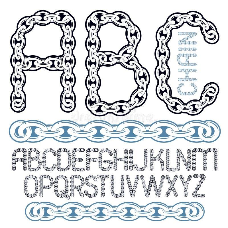 Vector Skript, moderne Alphabetbuchstaben, ABC-Satz Haupt-creativ lizenzfreie abbildung