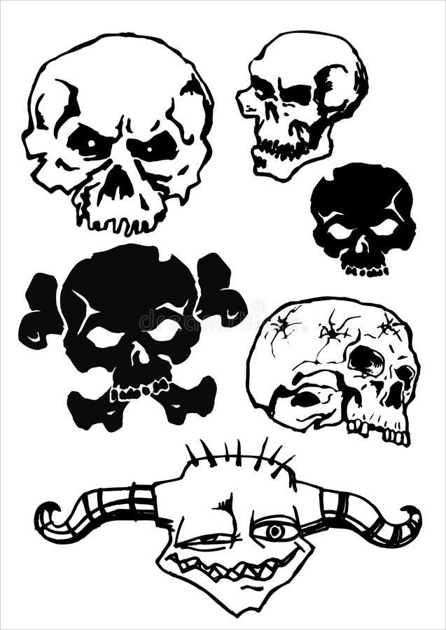 Download Vector skull stock vector. Image of design, dirty, pattern - 3414506