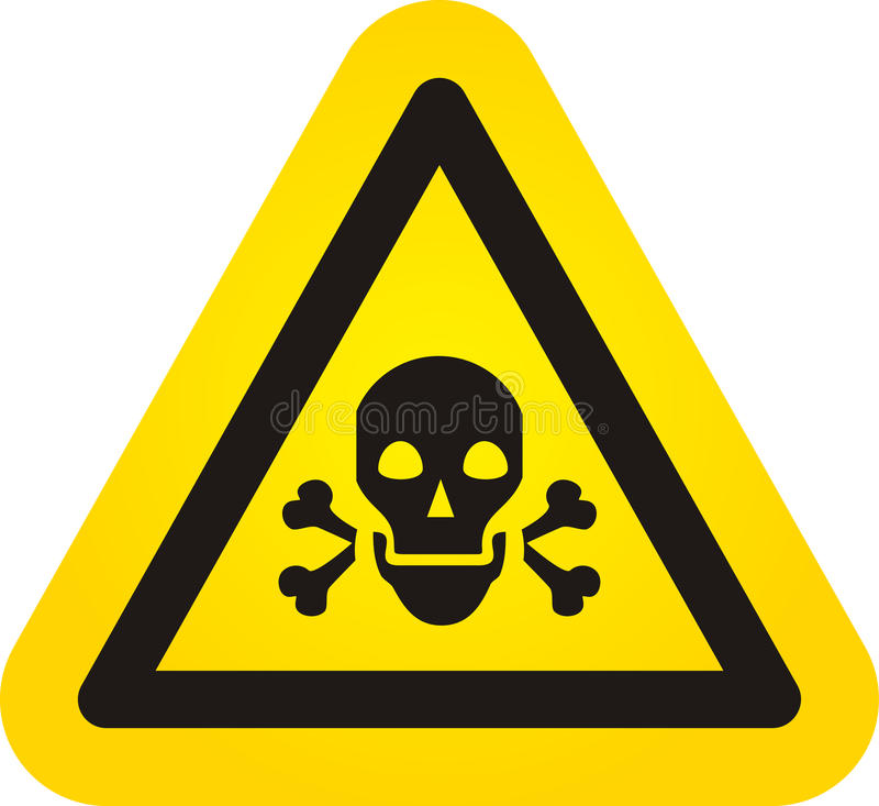 Vector skull danger sign stock photo