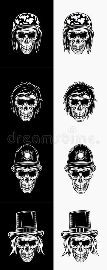 Vector Skull Set royalty free stock images