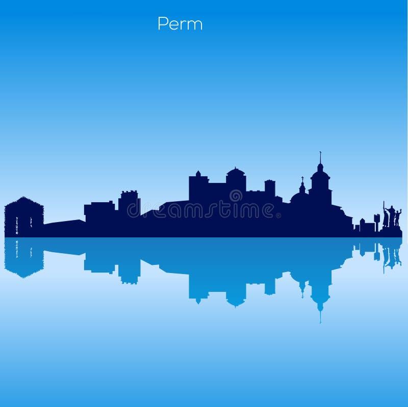 Vector skyline of Perm. Russia vector illustration
