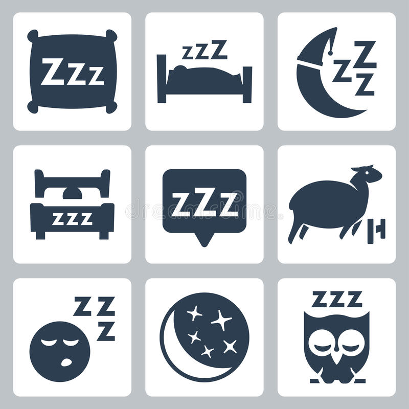 Free Vector Sleep Concept Icons Set Royalty Free Stock Photography - 34986827
