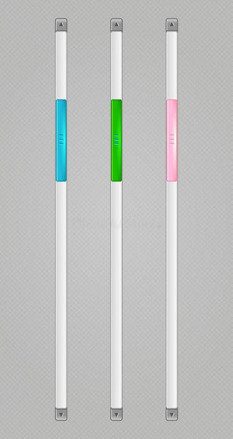 Vector Sliders Scroll web bars Set stock illustration