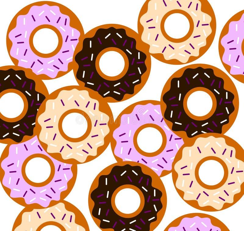 Vector smakelijke donuts vector illustratie