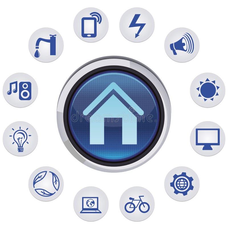 Vector smart house concept vector illustration