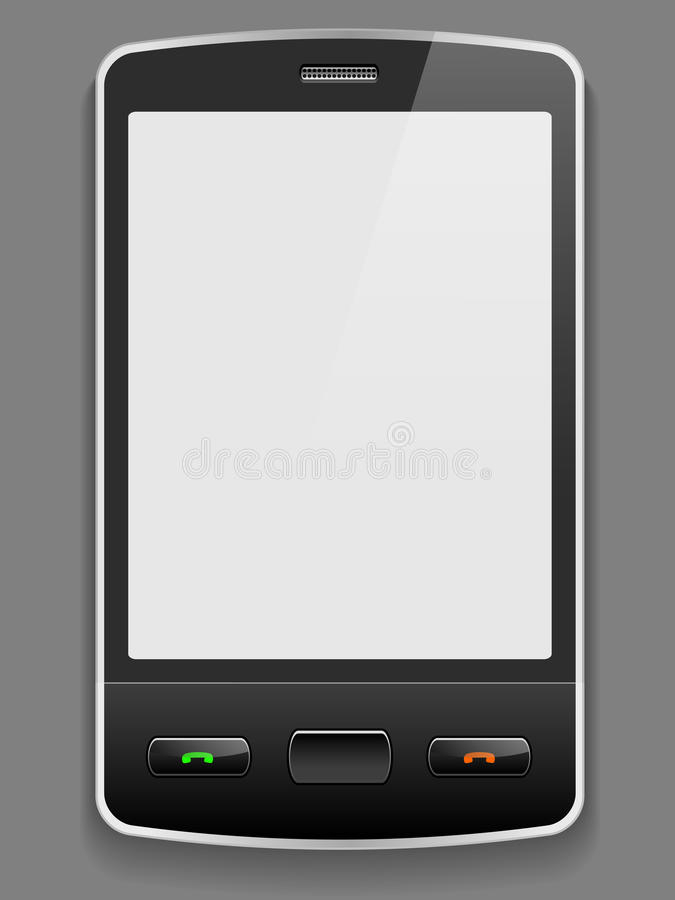 Download Vector smart phone stock vector. Image of object, portable - 21462850