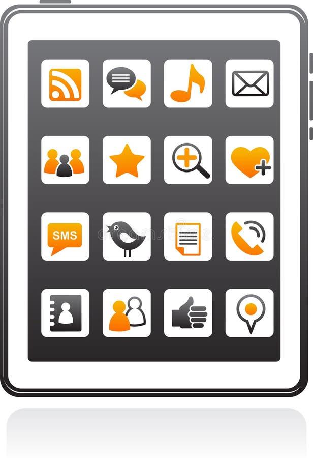 Vector Smart Phone Social Media Icons Stock Image
