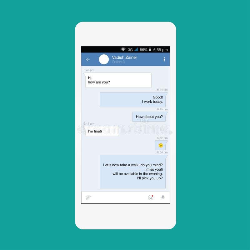 Vector Smartphone Redes sociales stock de ilustración