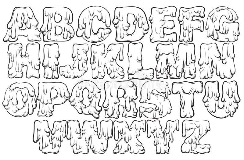 Vector smeltend type vector illustratie