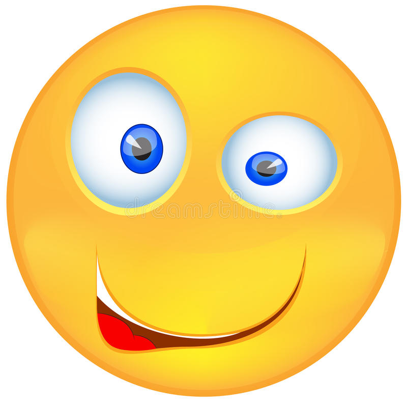 Vector - Smiling emoticon expressing Bewilderment royalty free stock photos