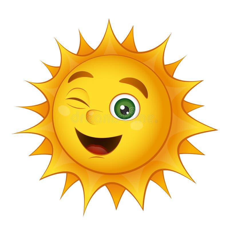 Vector smiling sun stock illustration