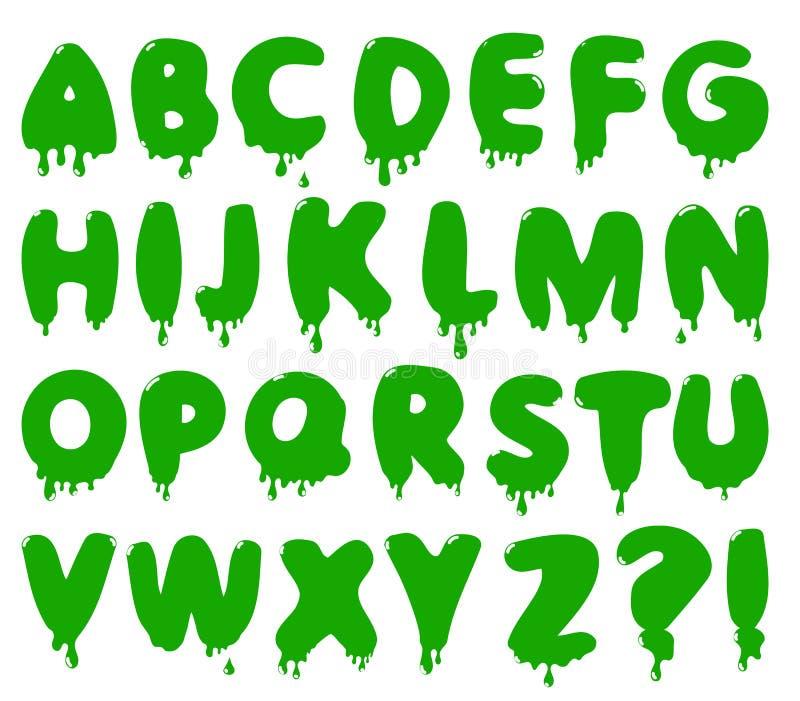 Vector smudge alphabet stock illustration