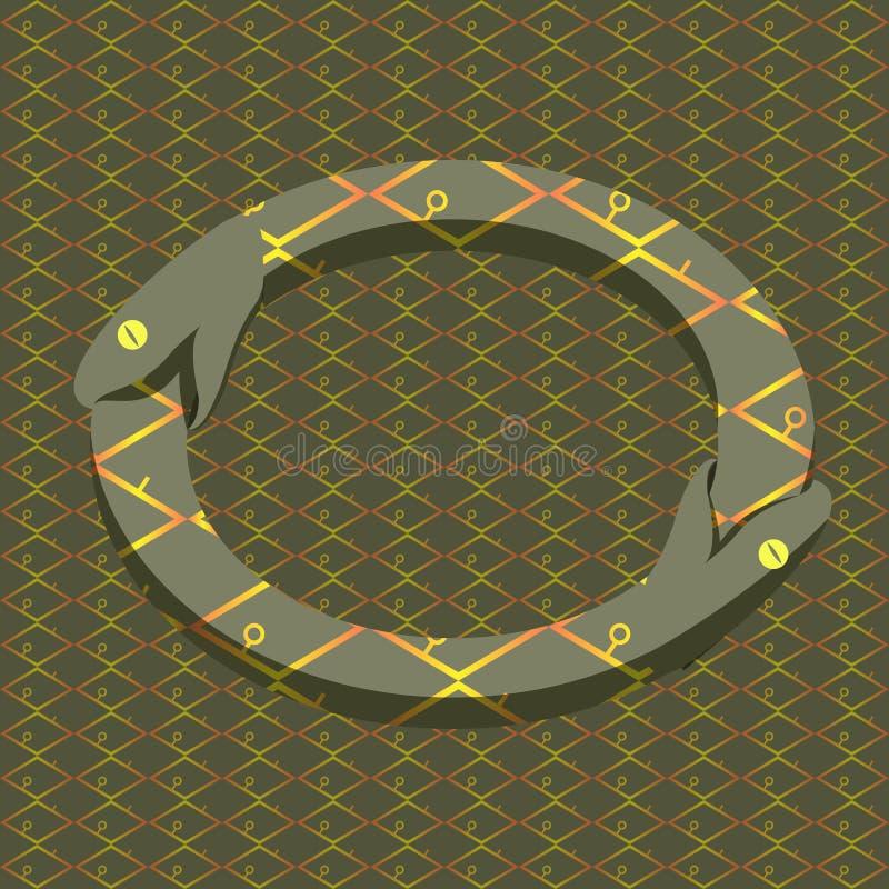 Vector snake uroboros stock illustration