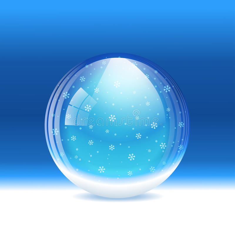 Vector sneeuwbol royalty-vrije illustratie