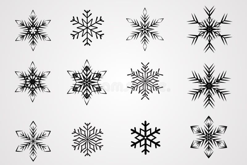Vector snow flakes stock photo